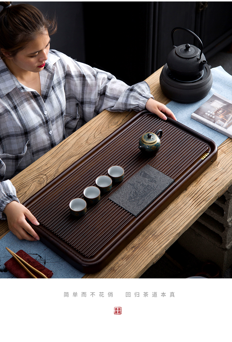 Tea tray hole hidden floor bamboo sharply home sitting room the whole piece of heavy stone tablet contracted dry plate of small Tea table office