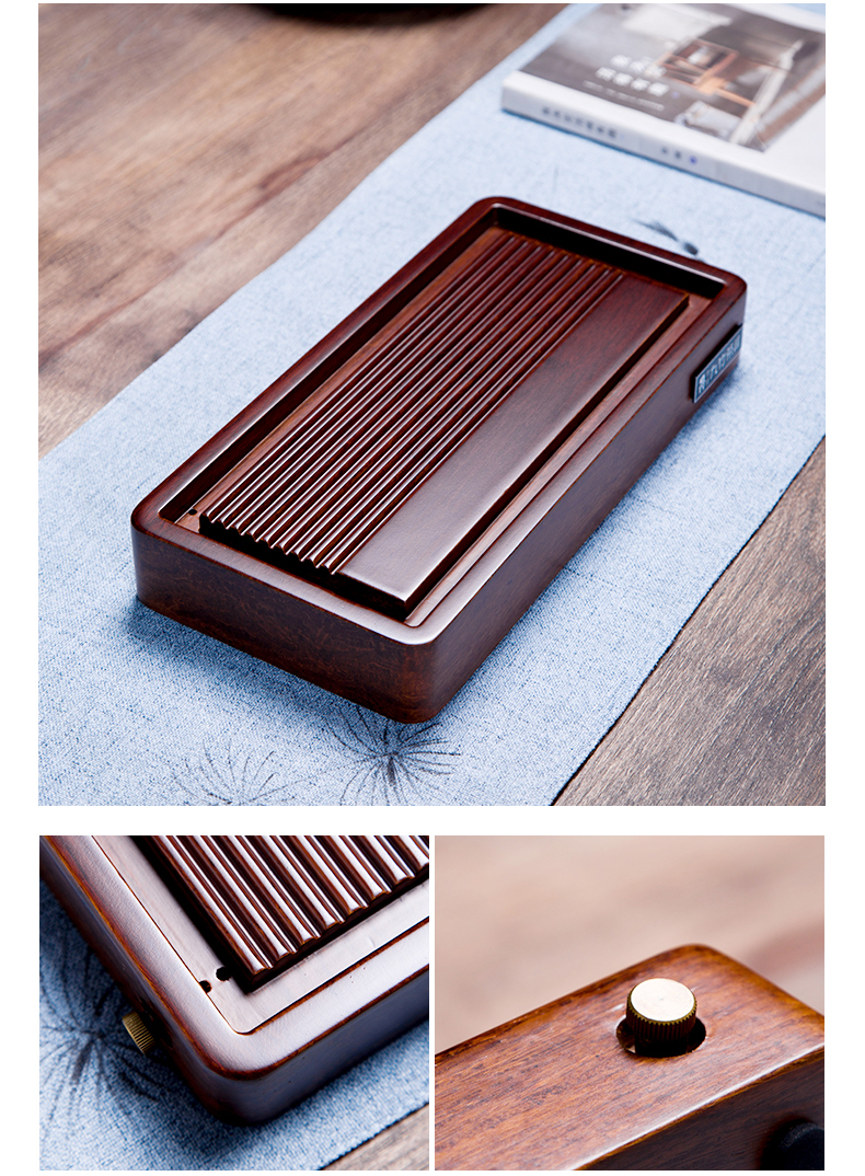 In heavy bamboo tea tray was home office building small tea tea sets of I and contracted kung fu tea tray In the living room
