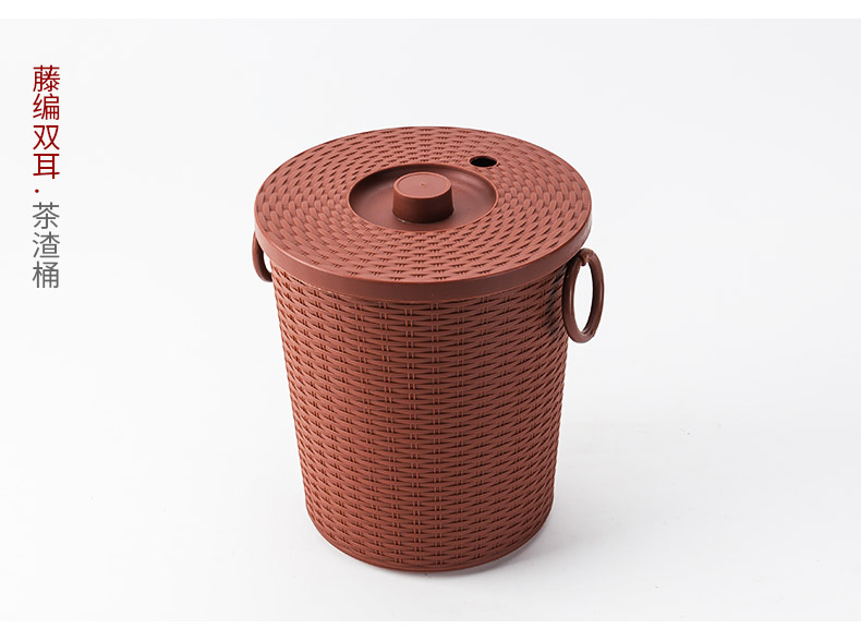 In building a dross barrels of household kung fu tea tea tea bucket water portable thick round bucket