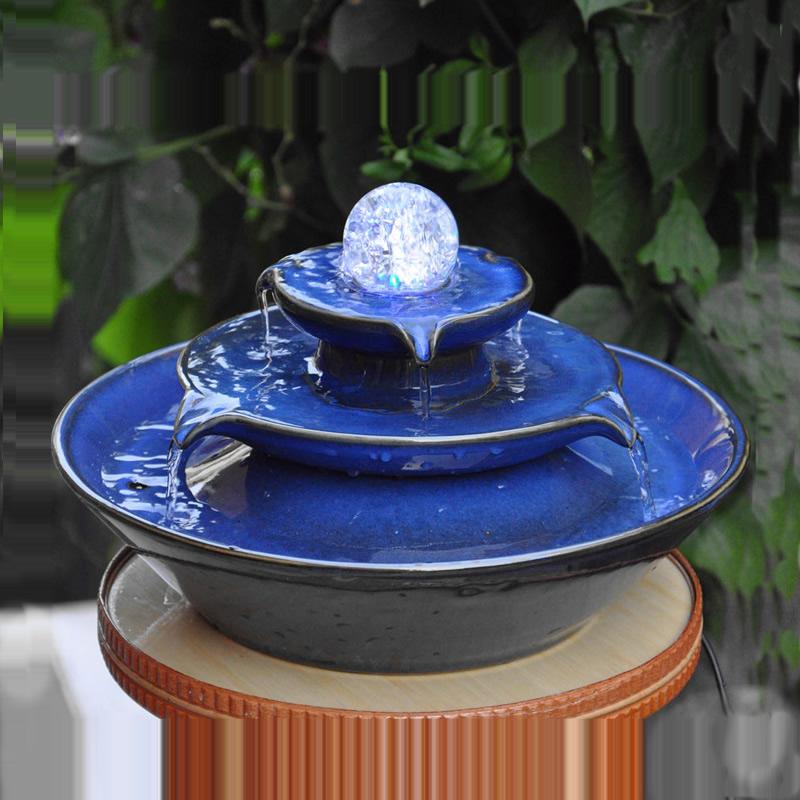 Huit façons de faire de l'argent l'eau qui coule à faire de l'argent Boule de cristal rotation Feng shui roue quand fortune transfert fontaine argent rouleau ornement