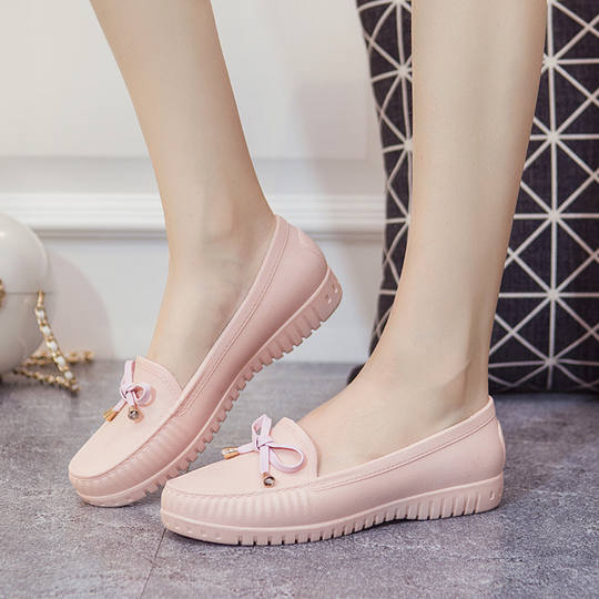Rain boots women's low-top casual shoes shallow mouth water boots short tube non-slip Korean spring and autumn water shoes adult rain boots wild rubber shoes