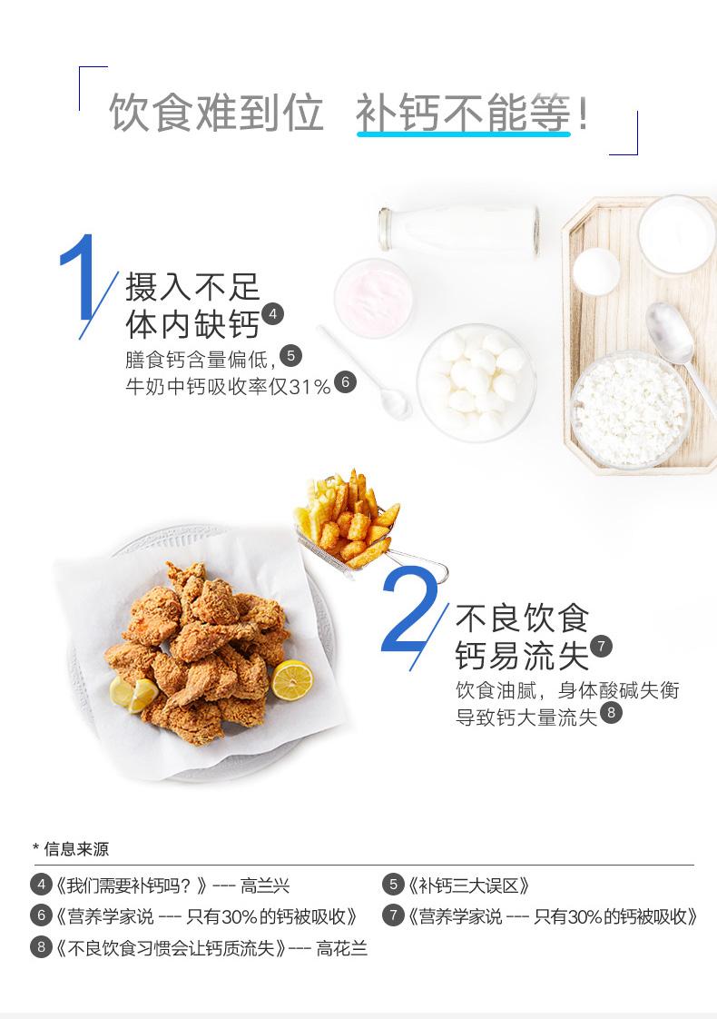 直播链接专享GNC健安喜维生素D高钙片1000mg*180粒2瓶钙镁片 ¥249.00 营养产品 第3张