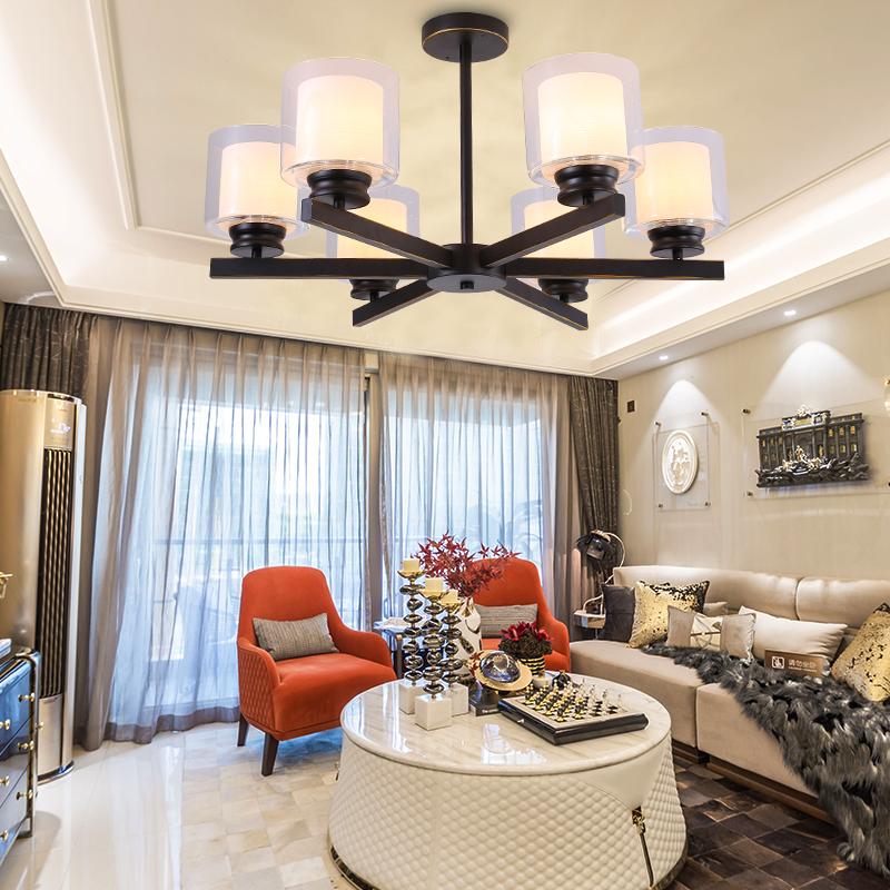 歐式吊燈簡約現代客廳餐廳臥室鋅合金奢華大氣大廳燈全屋燈具套餐