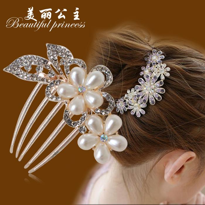 Cô dâu phụ kiện tóc nhỏ Hàn Quốc cúi đầu đồ trang sức kẹp tóc kẹp tóc tóc lược Liu bên bờ biển kẹp kẹp tóc kẹp tóc tóc