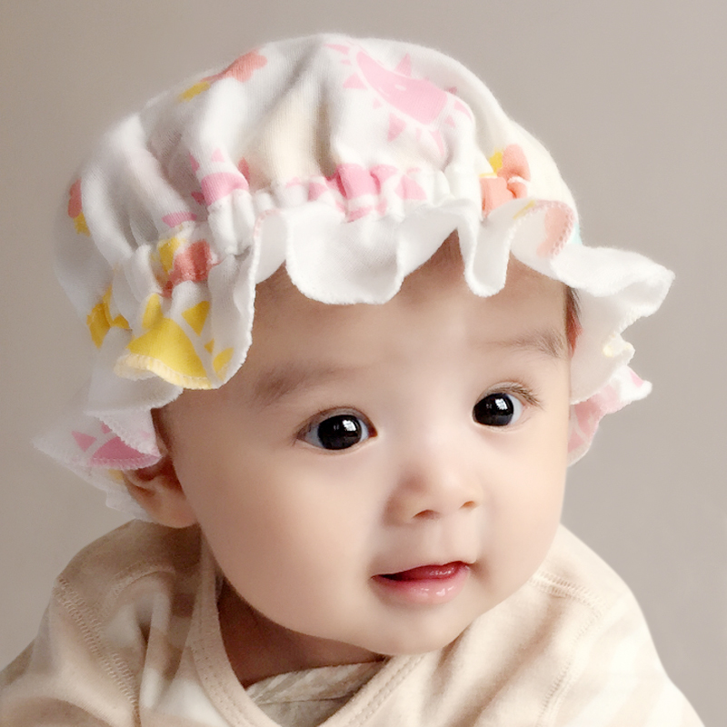 8af9f28af4f Baby hat spring and autumn thin section female baby Princess cute newborn  spring and summer baby