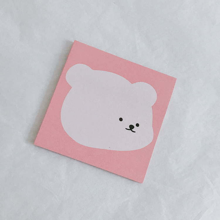 New Color - Pink Face Big Face Bear