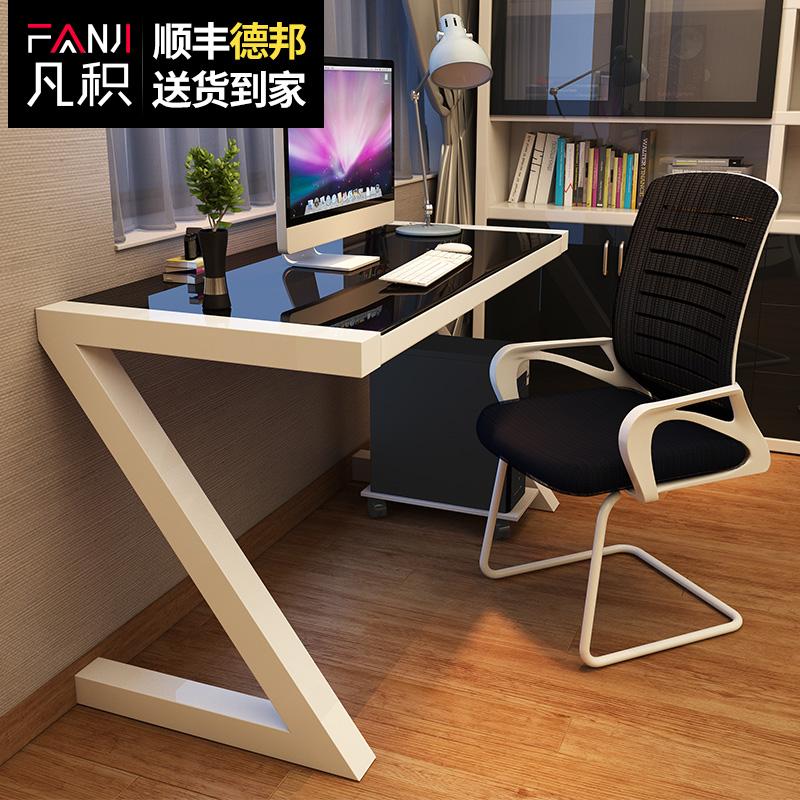 Đơn giản đơn giản hiện đại tempered glass bàn máy tính máy tính để bàn bàn nhà nghiên cứu đơn giản bàn viết bàn
