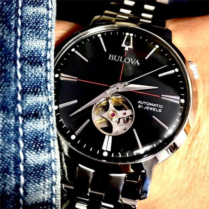 海外代购正品宝路华Bulova手表男士自动机械不锈钢防水腕表96A199