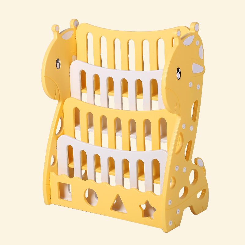 Дует жираф книжная полка желтый (четыре слоя) стиль