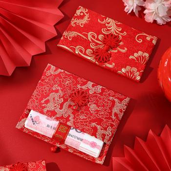 Конверты,  Красный выйти замуж использование творческий атлас личность вышивка свадьба общий десять тысяч юаней большой мешок высококачественный изменение рот плата красный мешок, цена 134 руб