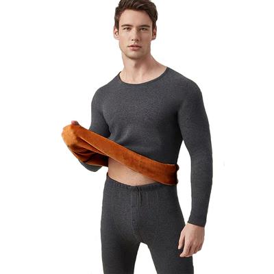 红豆保暖内衣加厚加绒套装男士女士本命年中老年冬季秋衣秋裤套装