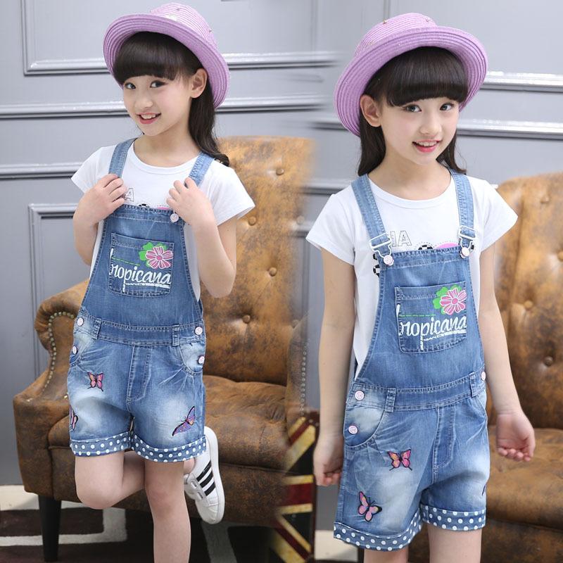 Quần áo bé gái 2020 mùa hè denim mới cho trẻ em trung niên quần short trẻ em kiểu tây phù hợp với mùa hè 3-13 thủy triều - Quần jean