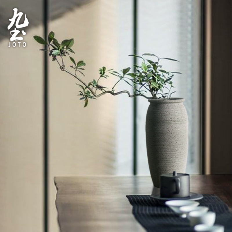 About Nine soil checking pottery zen Chinese style flower implement circular big props tea table inserted with new classical flower POTS, small flow