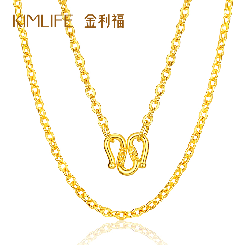 Gold rifie gold necklace clavicle chain million word Chain O word chain wild necklace 999 gold chain jewelry female models