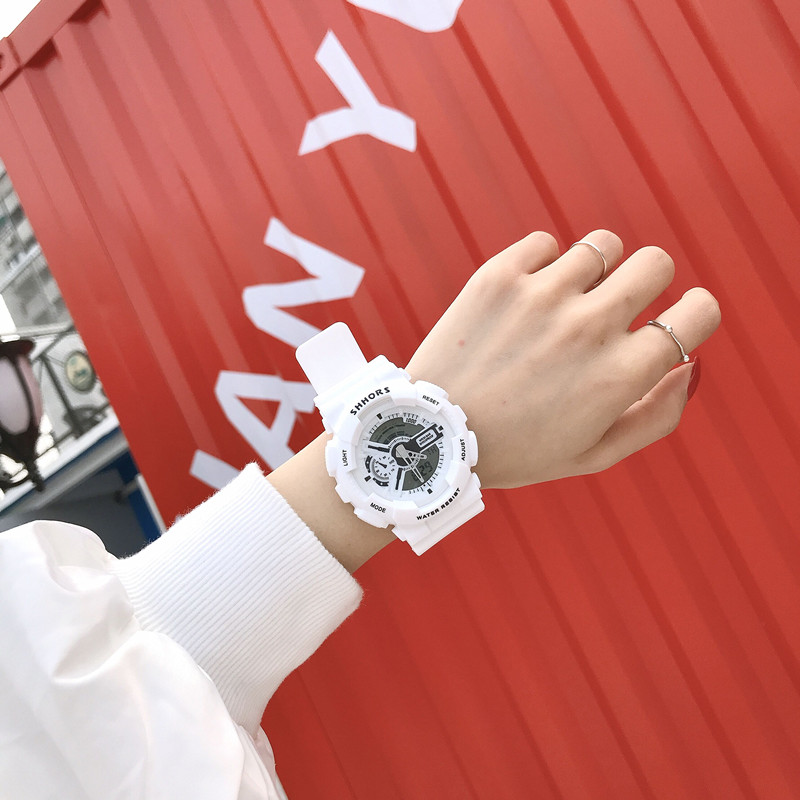Электронные часы, студентка корейская версия простой модные Ульцзан светящийся водонепроницаемый для отдыха волна мужской Спортивный большой набор