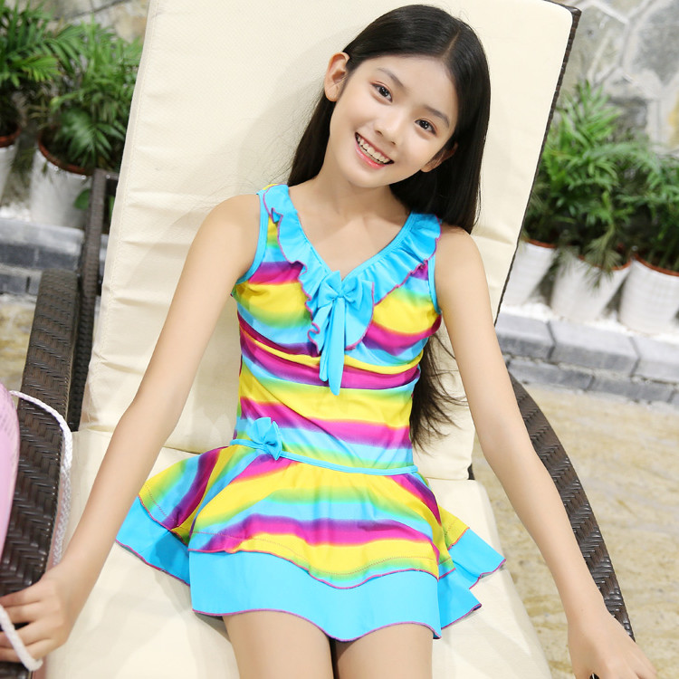 71ccadc0d2930 Years old large children girls one piece skirt swimsuit jpg 750x750 Junior  middle school bathing suits