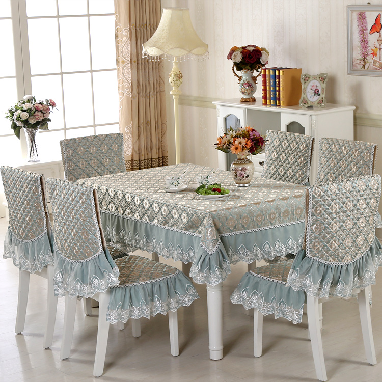 New Dining Chair Cushion Cover Set Jacquard Chinese Table And Package Tablecloth Fabric At Price Online With