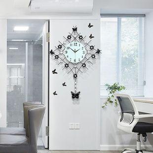 欧式钟表挂钟静音石英时钟