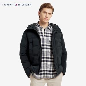 TOMMY HILFIGER 男裝20秋冬純色抽繩連帽鋪棉夾克MW0MW14887