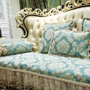 多满屋欧式沙发垫奢华防滑四季通用布艺全包123组合套装