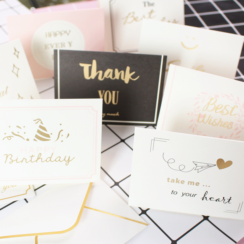 Greeting Card Business Birthday Wishes Card Hot Stamping Korea ...