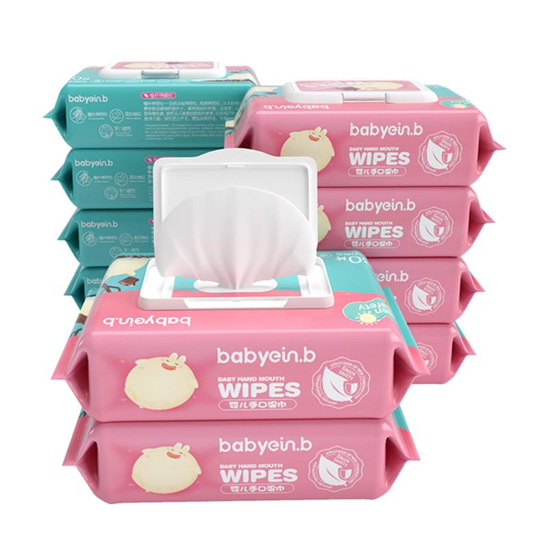 【天猫超市】 婴儿手口湿巾80抽*10包