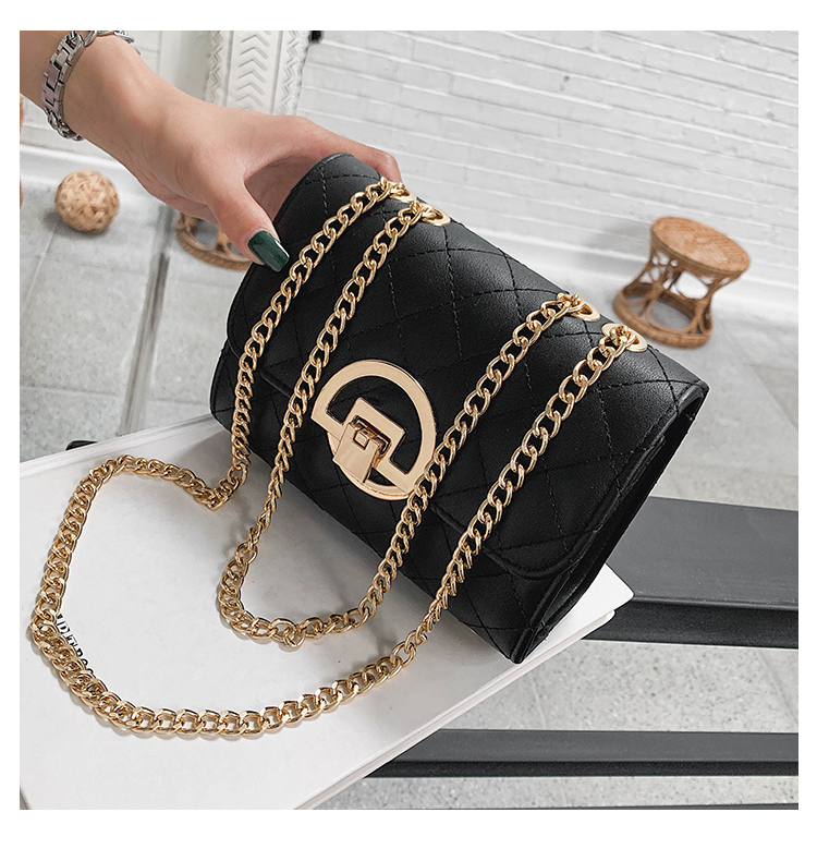 Fashion Small Square Bag Handbag 2019 High-quality PU Leather Chain Mobile Phone Shoulder bags Green one size 32