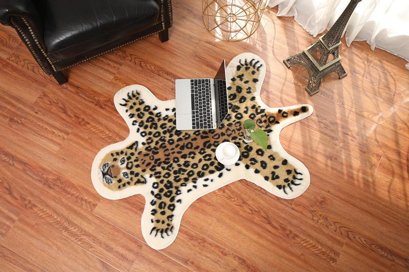 仿书房别墅豹纹地毯茶几地毯地毯装饰毯v书房皮客厅牛皮地毯卧室奶