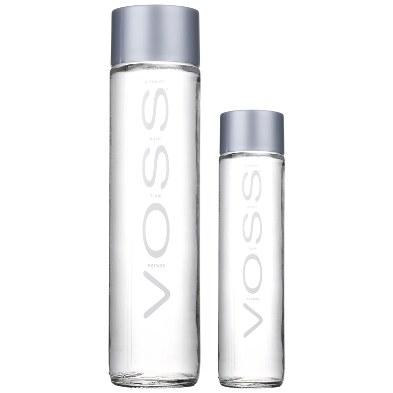 voss mineral water glass bottle 800ML*12 full case fuss natural imported  water bottle bubble drinking water genuine