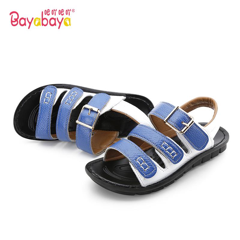 吧吖吧吖男童鞋2017夏季儿童凉鞋女童学生宝宝沙滩鞋小孩学生鞋子