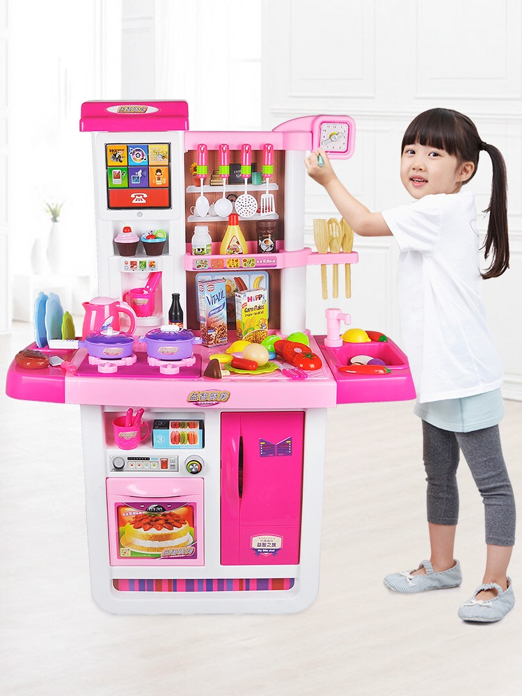 Girl Toys Children S Kitchen Set Boy Simulation Kitchen Baby Play House Wine Cooking Girls Cooking 3 6 Years Old 7