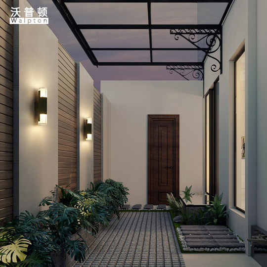 Wormton solar outdoor waterproof staircase crossing wall light modern minimalist exterior wall light garden balcony wall lamp