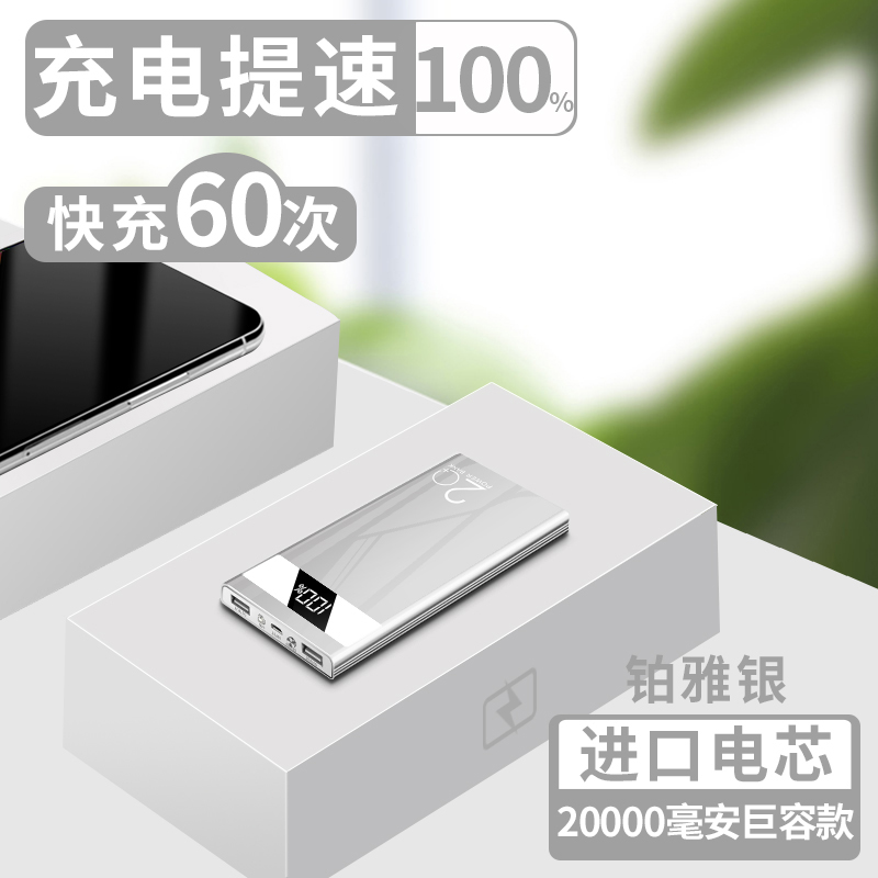 Platinum Ya Silver 20000 Mah [juyun + Imported Batteries] - Charging Speed 100%