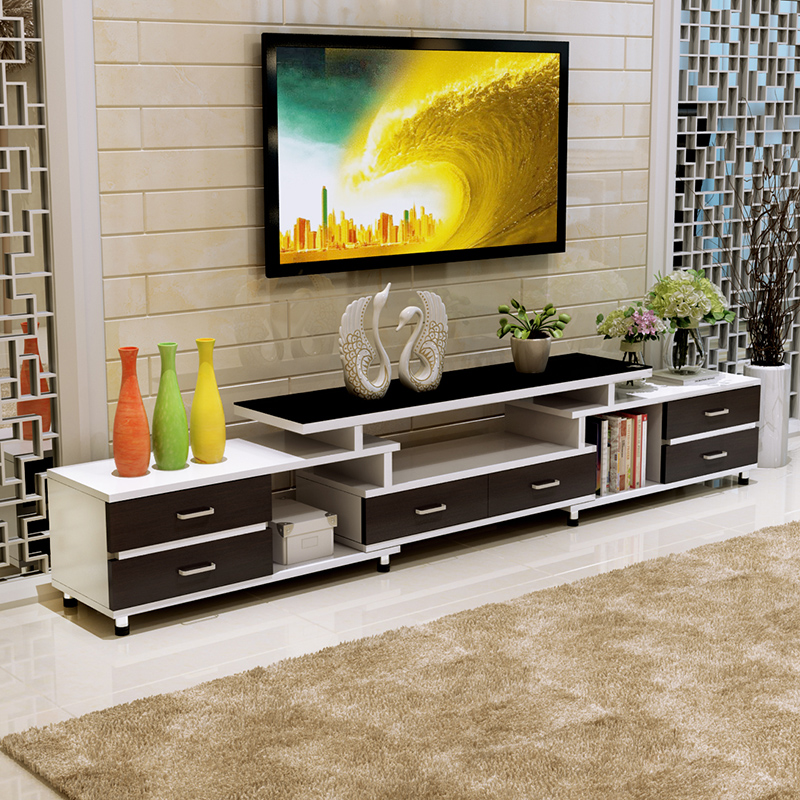 USD 138.57] Simple modern telescopic TV cabinet small ...
