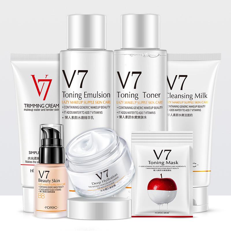 V7护肤补水保湿七件套装