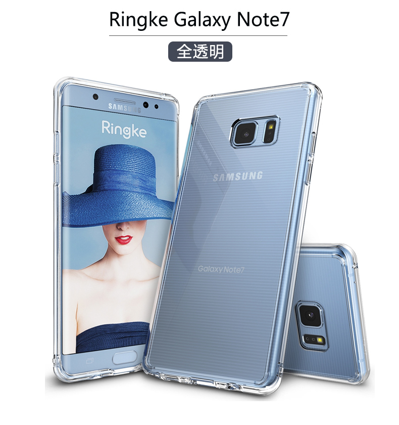 [ Original Words】 South Korea Ringke SAMSUNG Note7 Phone Case 7FE  Protective Case N9300 Ultra-Thin Shatter-resistant All Edges Included Soft
