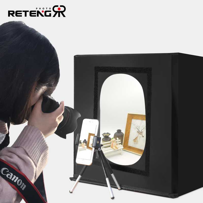 Светодиодная мини-съемка маленькой студии свет комплект со складыванием Фотография для фотосъемки свет Box реквизит Taobao фото натюрморт ювелирные украшения миниатюрные простой съемки станции заполнить свет свет