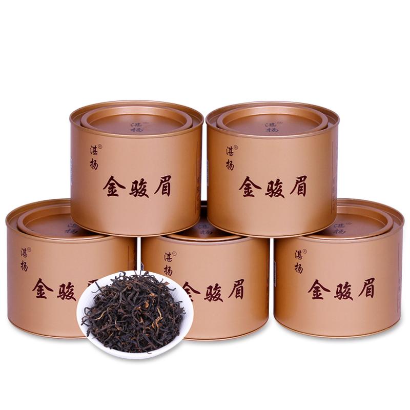 花香金骏眉红茶茶叶 浓香型金俊眉散装礼盒小罐装500g