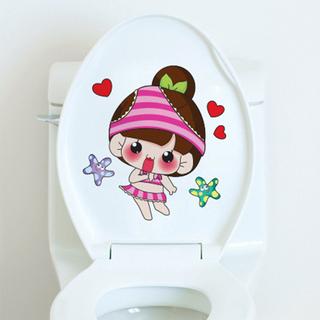 Наклейки на унитаз,  Ванная комната творческий туалет декоративный паста водонепроницаемый наклейки ванная комната туалет ванная комната туалет паста наклейки на обложки наклейка, цена 114 руб