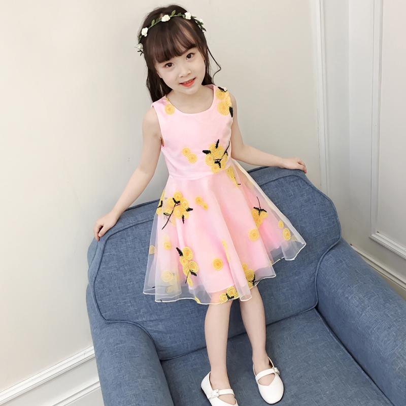 宝宝女童连衣裙背心3到4三5四6五7八8十9-10岁儿童装裙子公主夏装