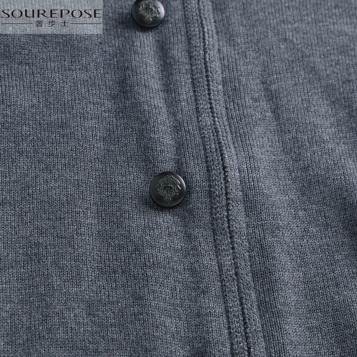 奢步士 2017冬装新款 半高领毛衣男 纯色个性拉链开衫毛衣外套男