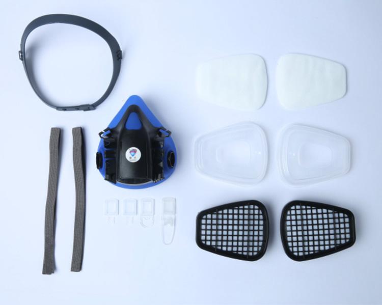 防毒面具喷漆防化工农药气体防甲醛异味电焊面罩硅胶防尘防毒口罩详细照片