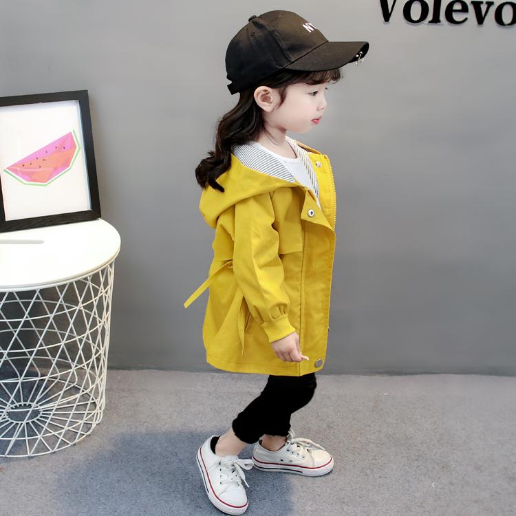 2018 новая коллекция на девочку куртка ветровка весна корейская версия детское женщина детские длинный рукав верх одежда демисезонный От 1-3 до 4 лет