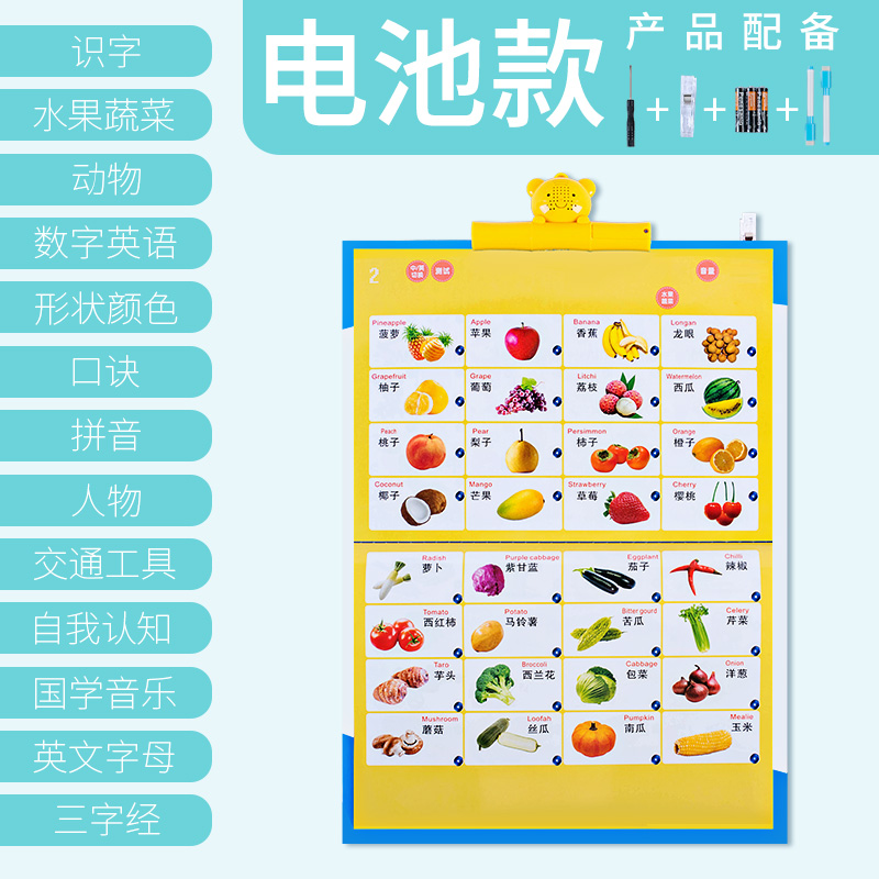 o music children pinyin sound hanging chart early childhood vocal