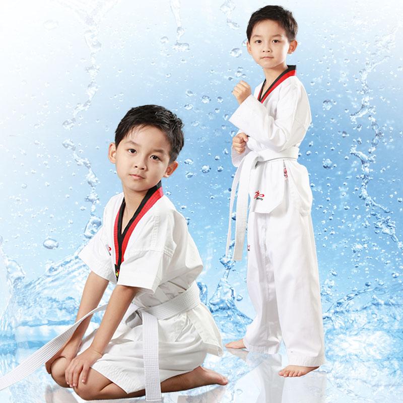 Пик Tae чистый хлопок Одежда для таэквондо детские Обучающая одежда для взрослых длинный рукав короткий рукав мужские и женские Начинающие носят тхэквондо GI