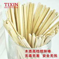 TIXIN / лестничная буква одноразовая деревянная мешалка для кофе один Поддержка независимой пакет Упаковано с 200 14 см