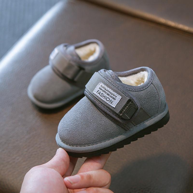 婴儿学步鞋软底0-1-3一岁2加绒宝宝棉鞋男童幼儿靴女七个月秋冬季