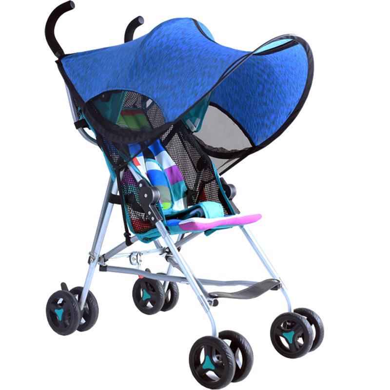 婴儿推车遮阳棚通用全蓬伞车遮阳篷遮阳伞防晒罩推车配件防紫外线