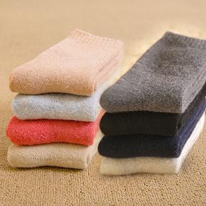 男士兔羊毛袜棉袜子女纯棉冬季加厚加绒保暖长毛巾秋冬款中筒防臭