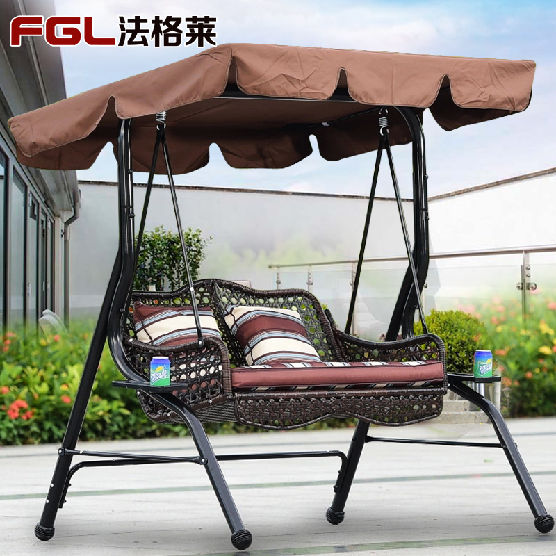 ... Outdoor Balcony Wrought Iron Swing Chair Double · Zoom · Lightbox  Moreview · Lightbox Moreview ...